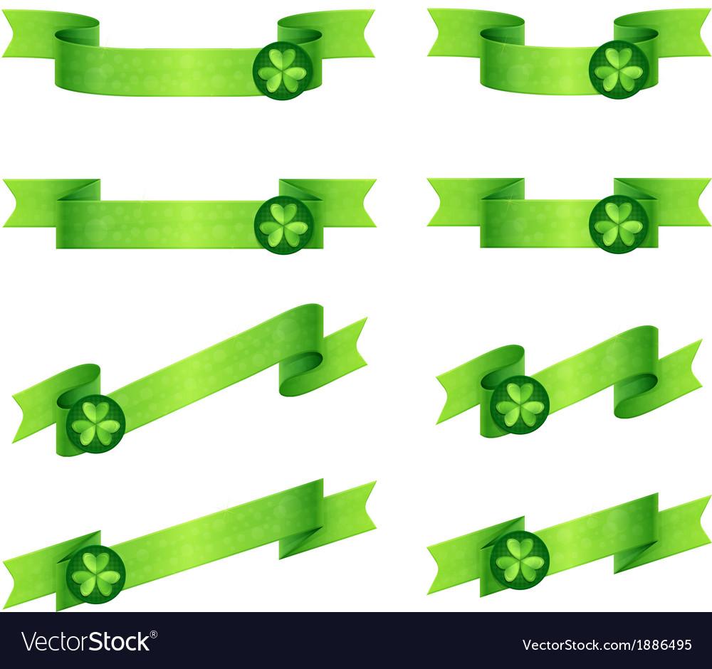 Ribbons shamrock vector | Price: 1 Credit (USD $1)