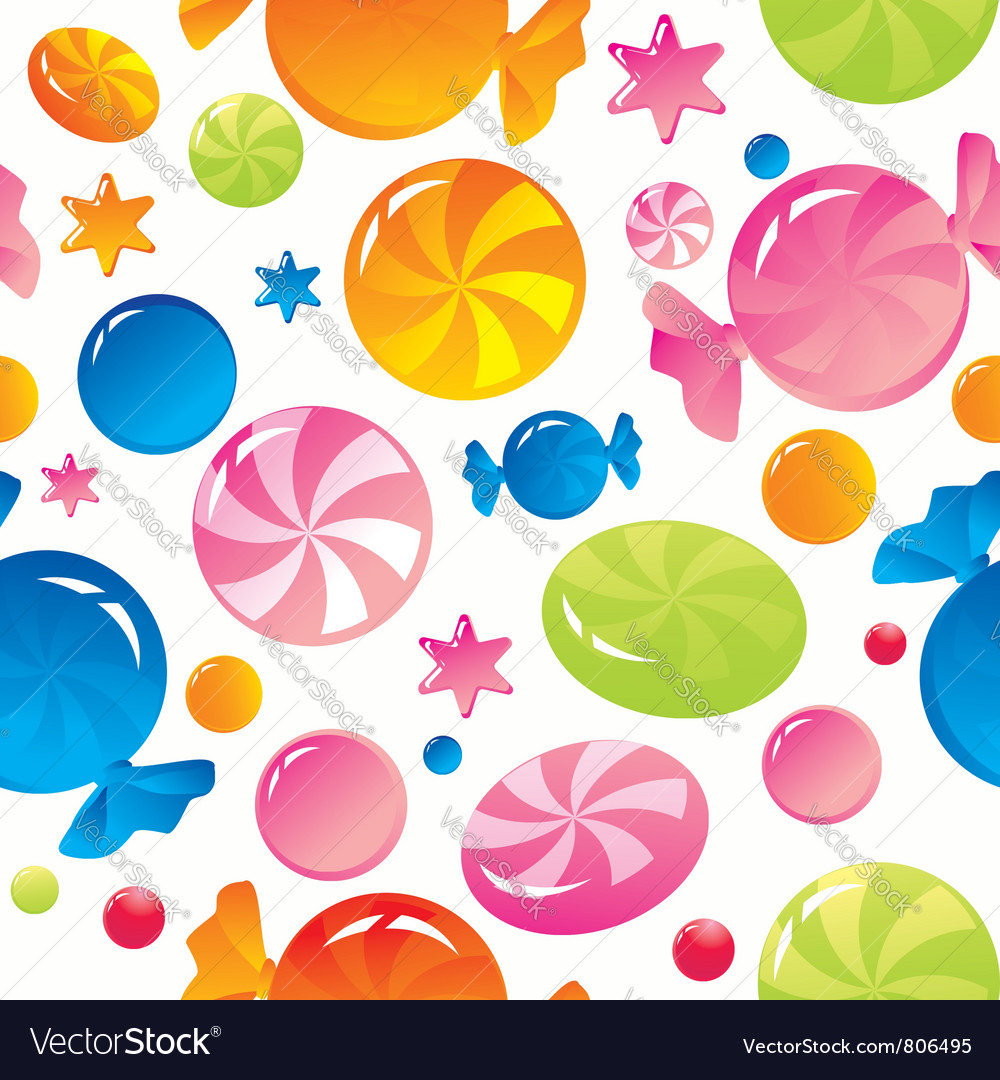 Sweets and sugar candies vector | Price: 1 Credit (USD $1)