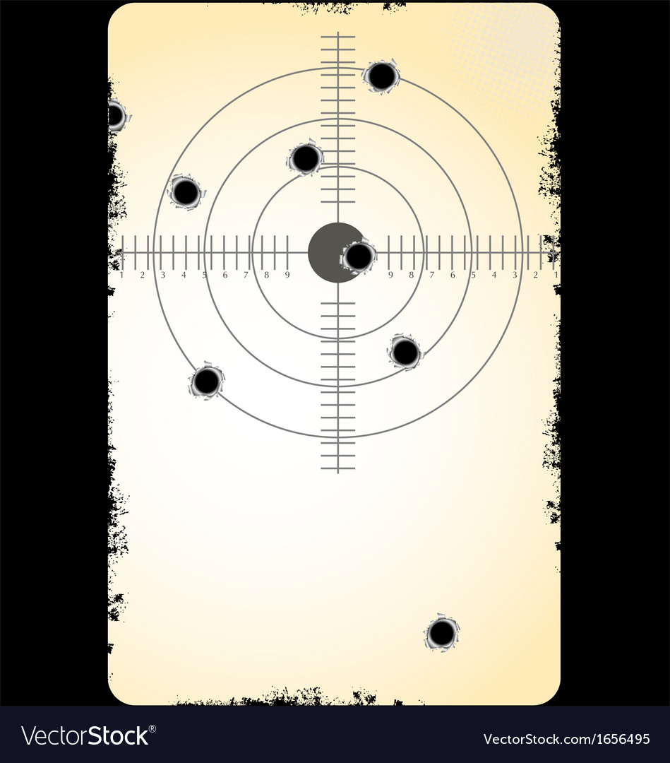 Target with bullet holes vector | Price: 1 Credit (USD $1)