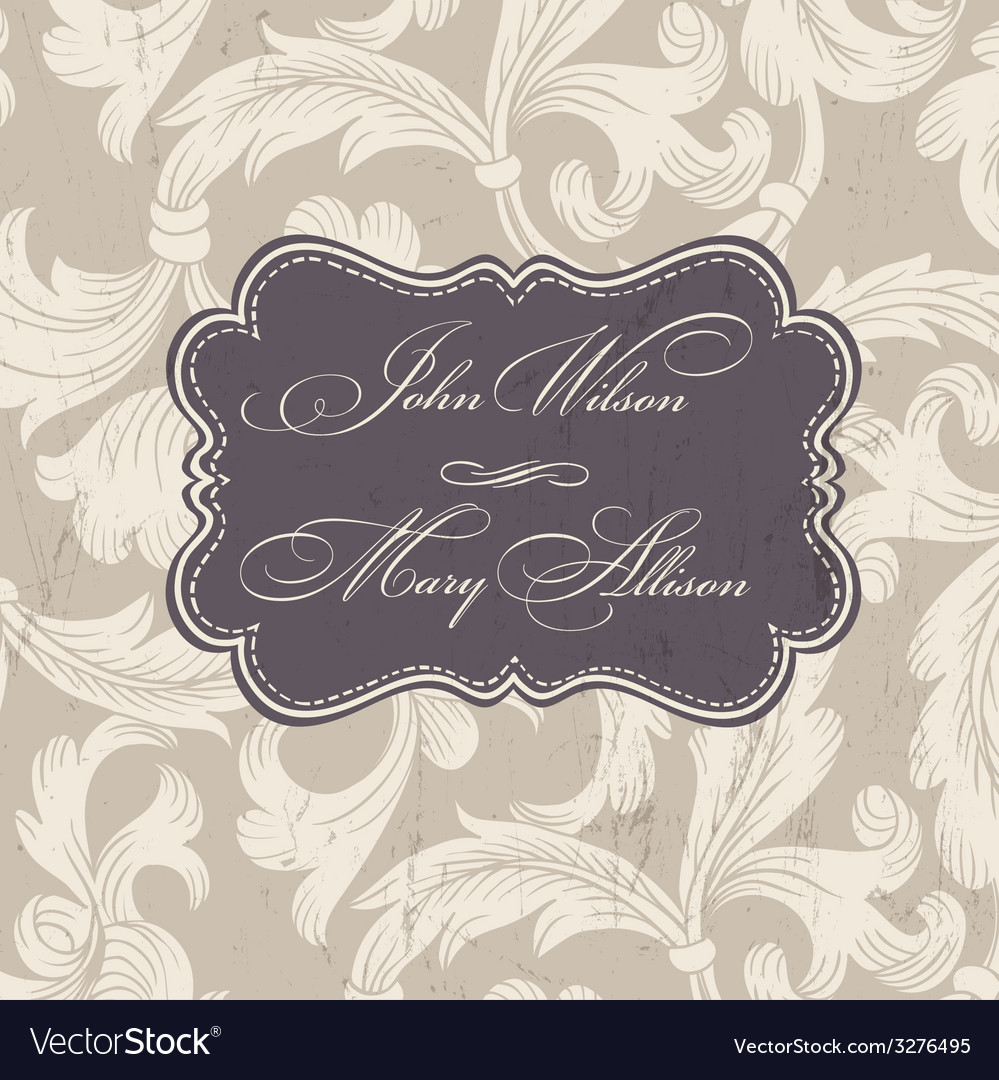Wedding stylish card template vector | Price: 1 Credit (USD $1)