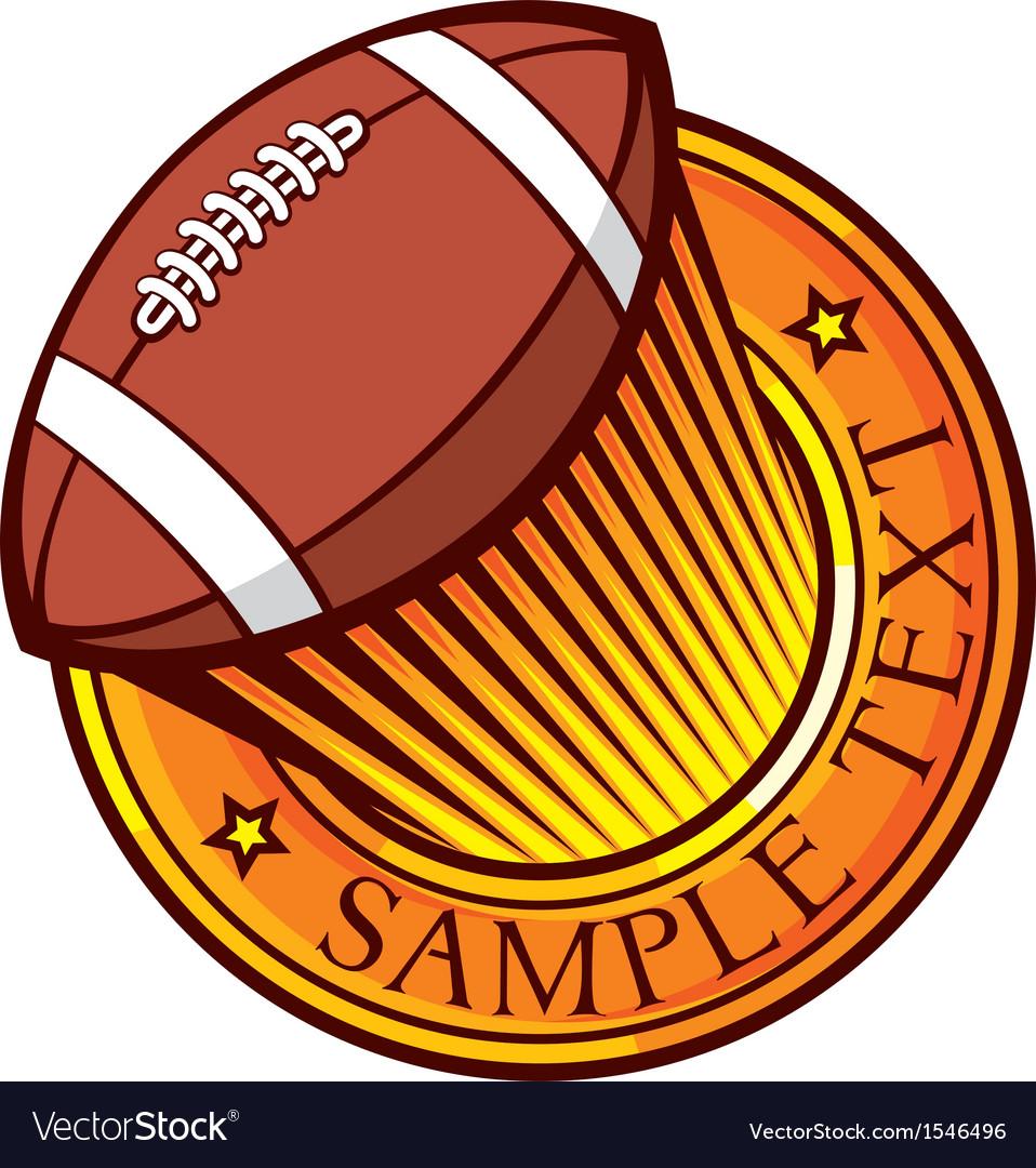 American football club emblem vector | Price: 1 Credit (USD $1)