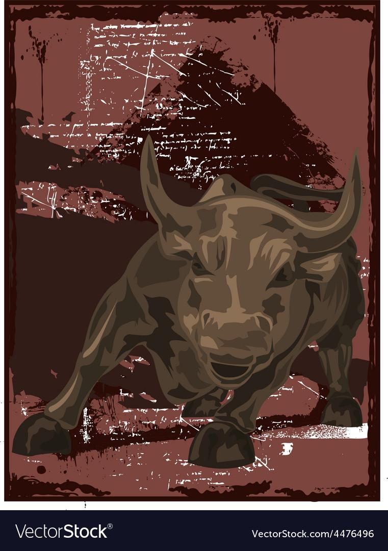 Bull vector | Price: 1 Credit (USD $1)