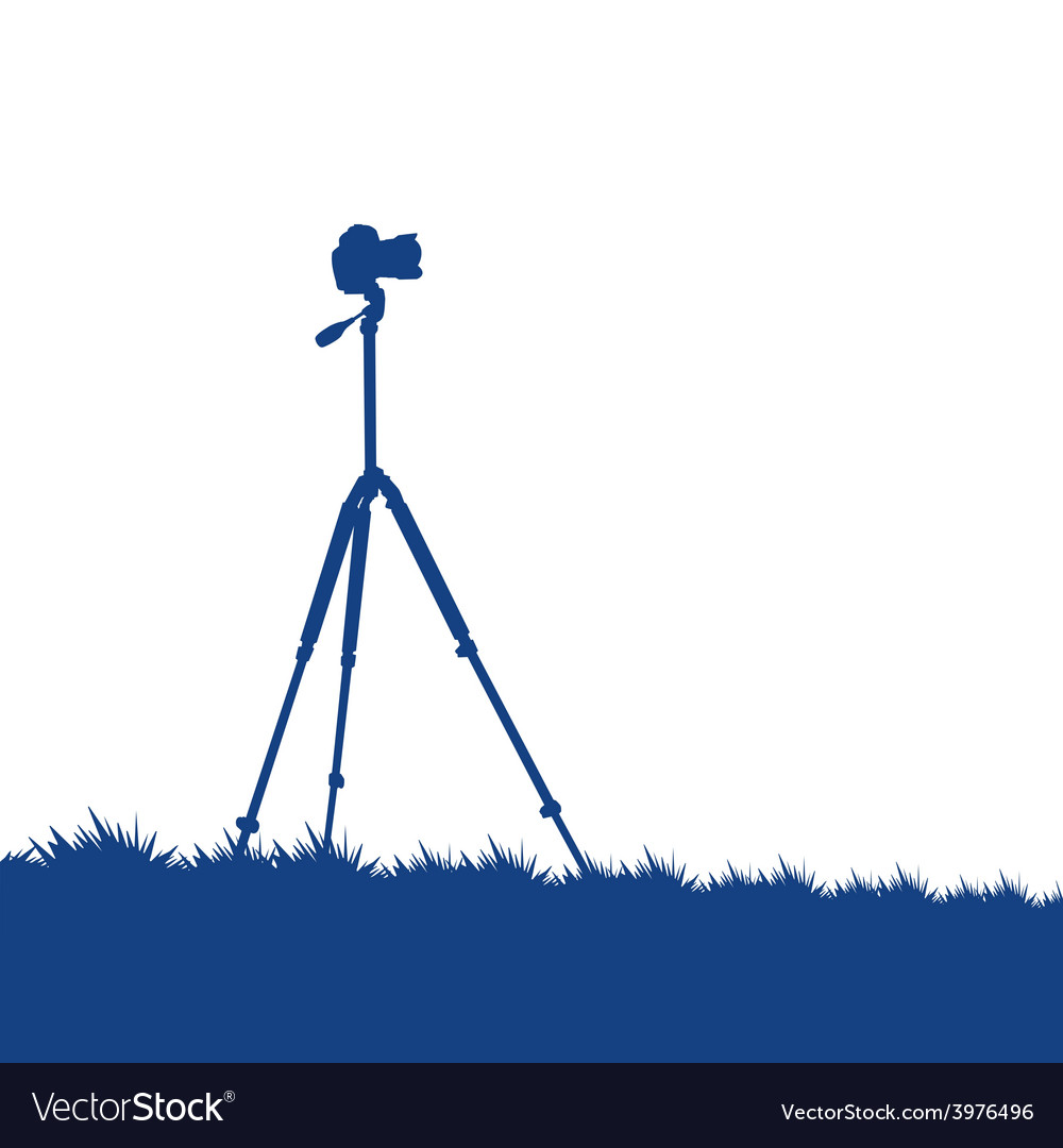 Camera on a tripod vector | Price: 1 Credit (USD $1)