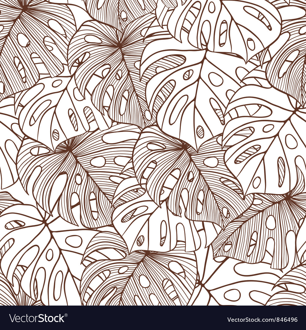 Leaves of palm tree seamless pattern vector | Price: 1 Credit (USD $1)