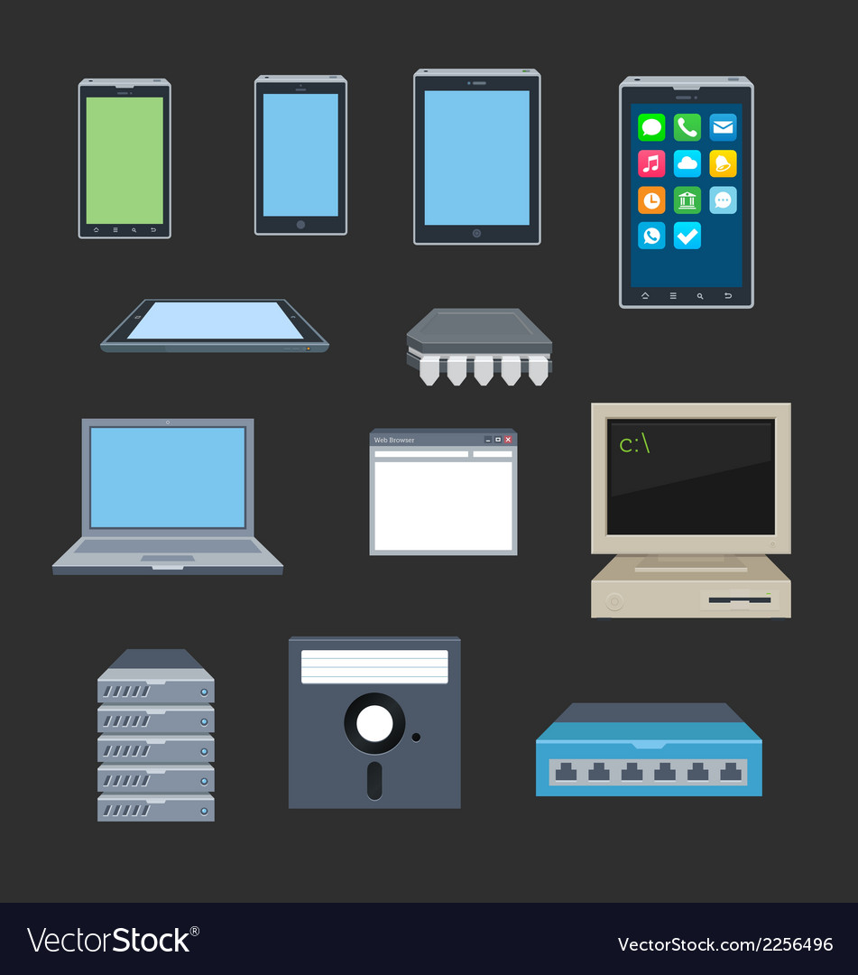 Old and new gadgets vector | Price: 1 Credit (USD $1)