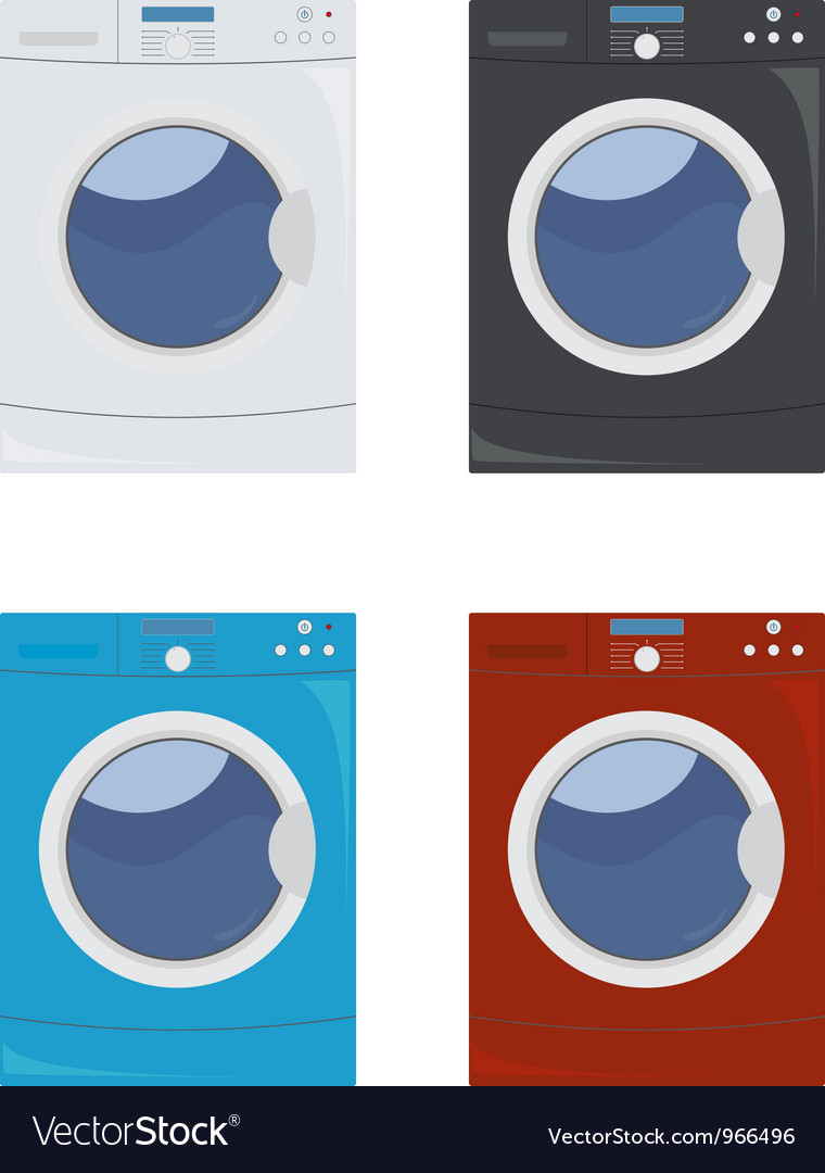Washing machine set vector | Price: 1 Credit (USD $1)