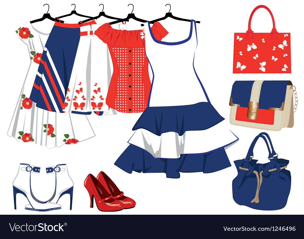 Womens clothing and accessories vector | Price: 1 Credit (USD $1)