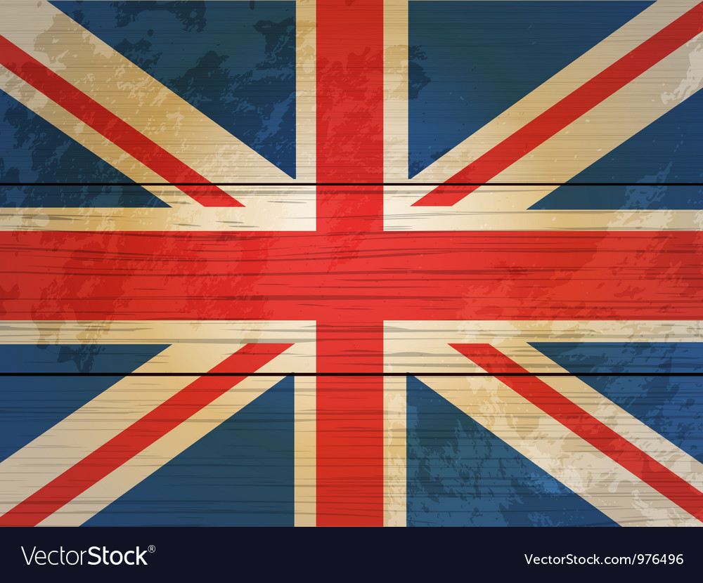 Wood planks union jack vector | Price: 1 Credit (USD $1)