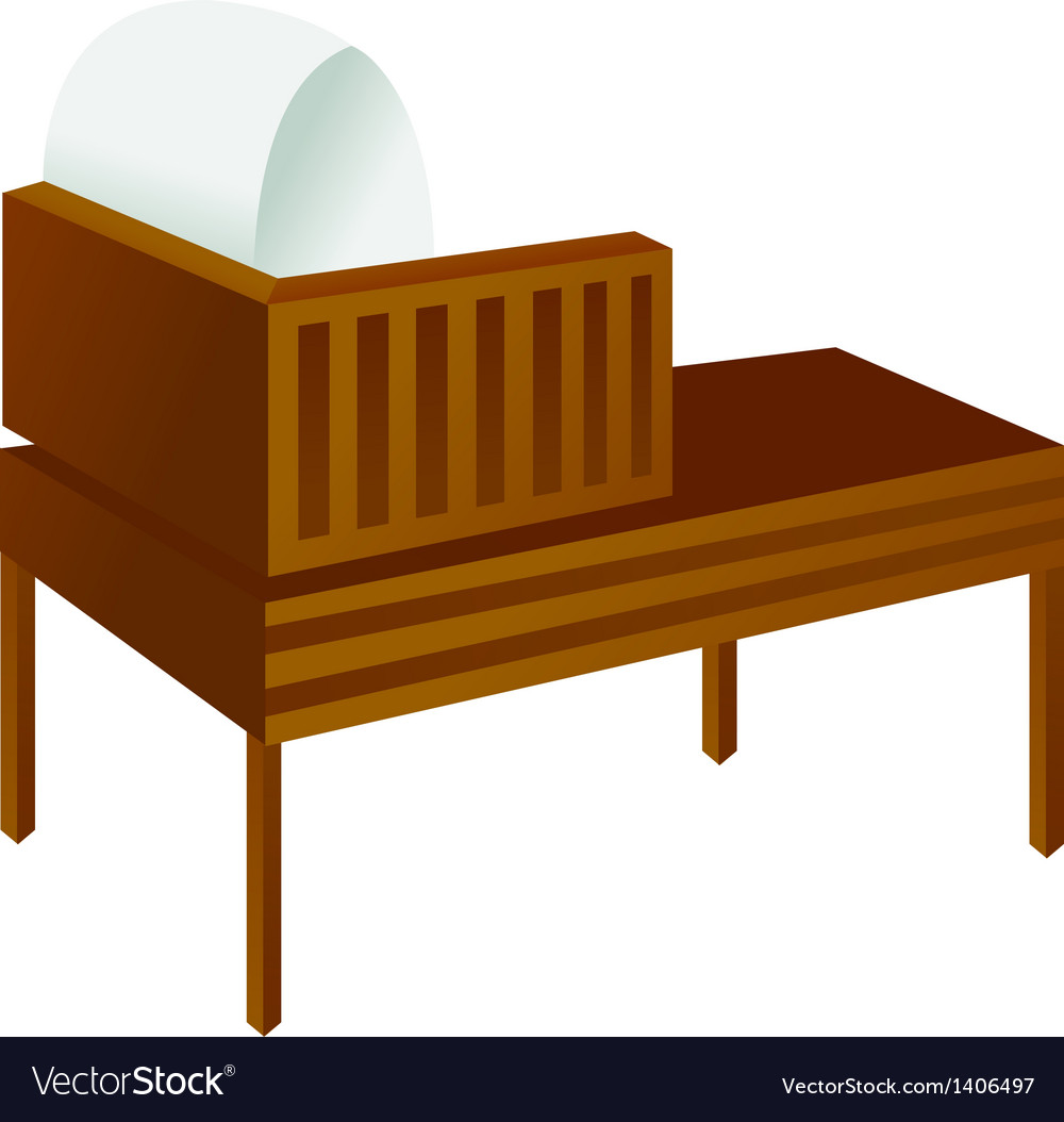 A reading desk is placed vector   Price: 1 Credit (USD $1)