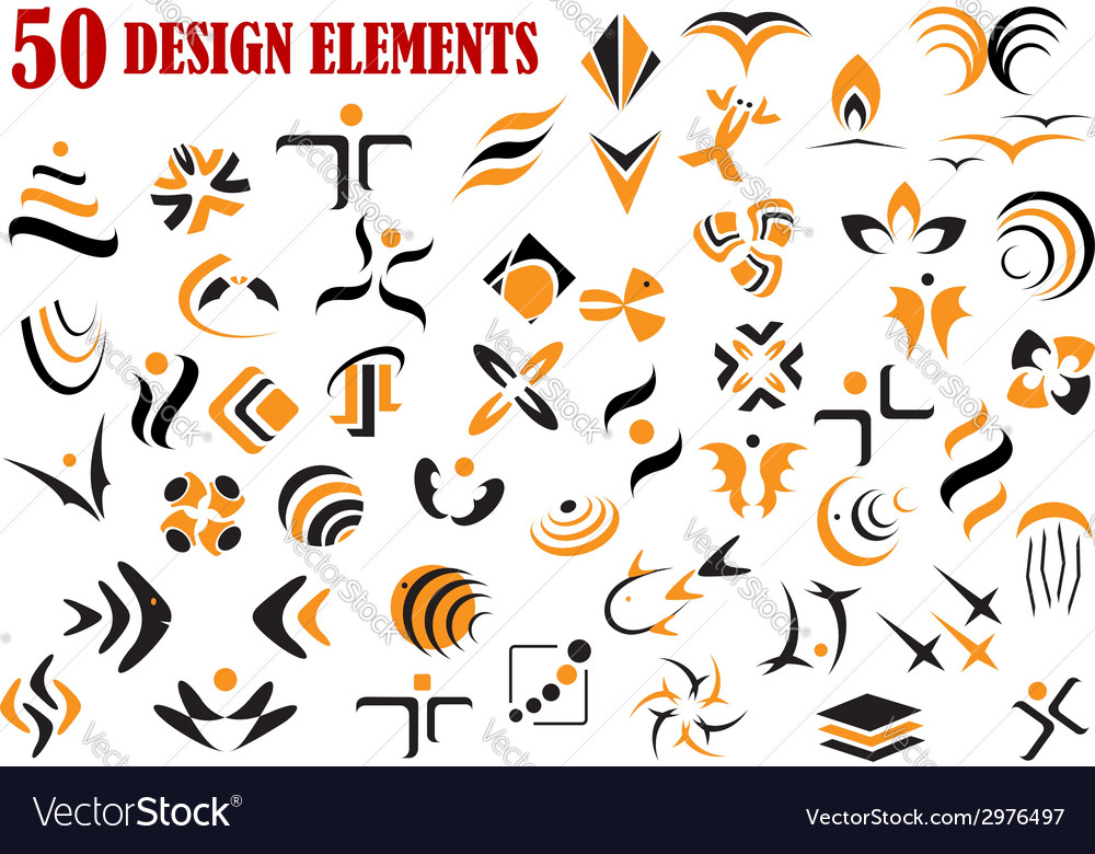 Abstract graphic design elements and symbols vector | Price: 1 Credit (USD $1)