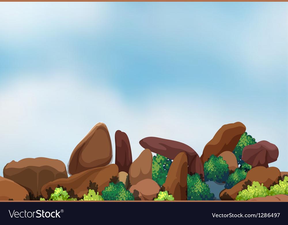 Big rock formation vector | Price: 1 Credit (USD $1)
