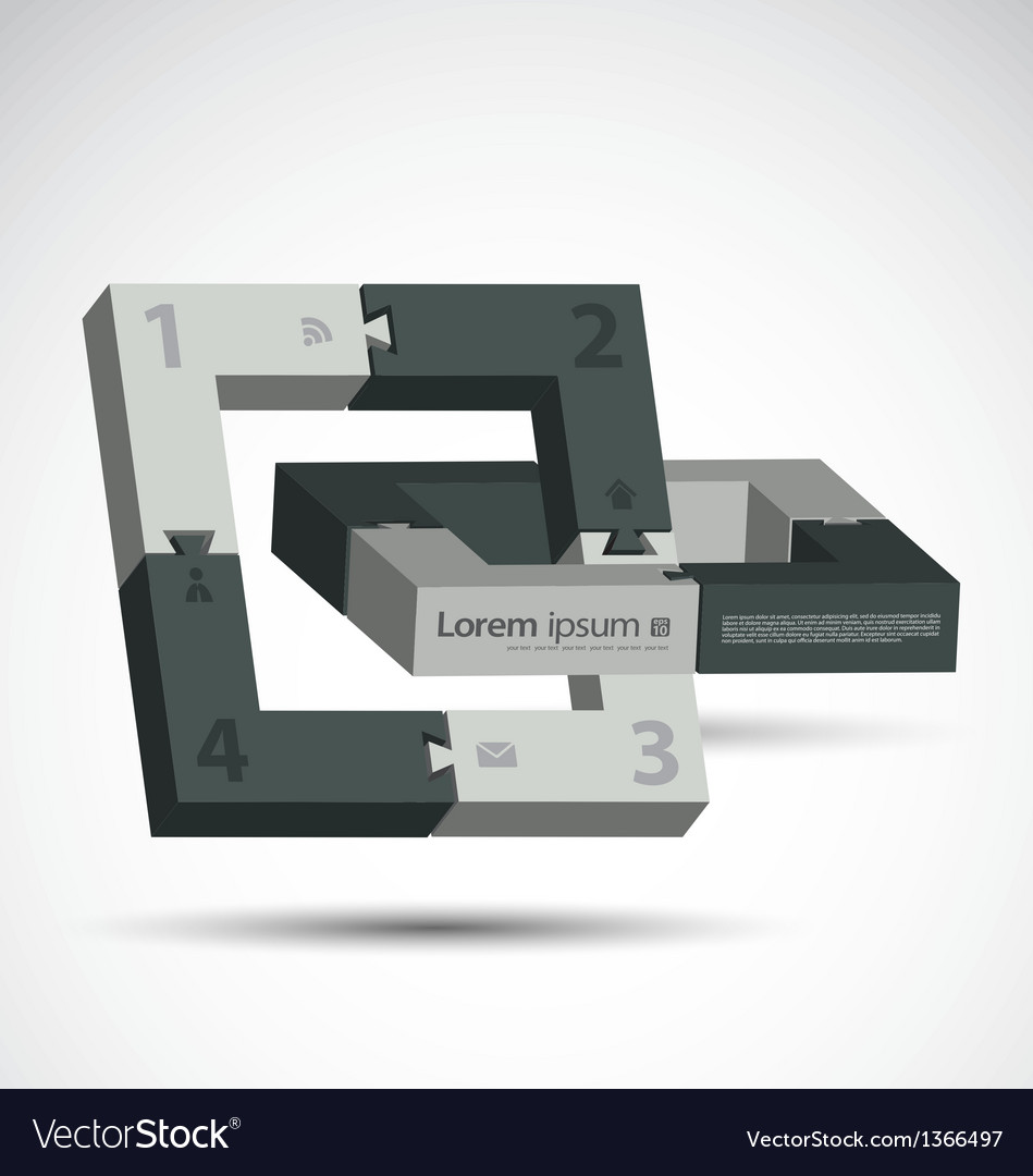 Block around vector | Price: 1 Credit (USD $1)