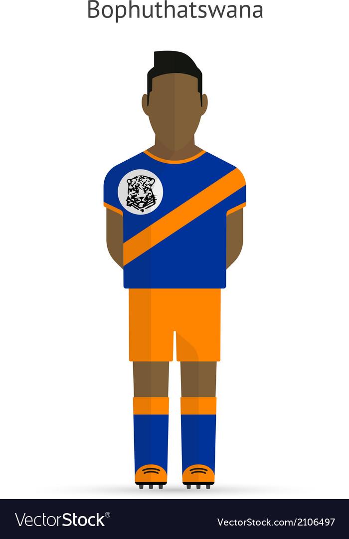 Bophuthatswana football player soccer uniform vector | Price: 1 Credit (USD $1)