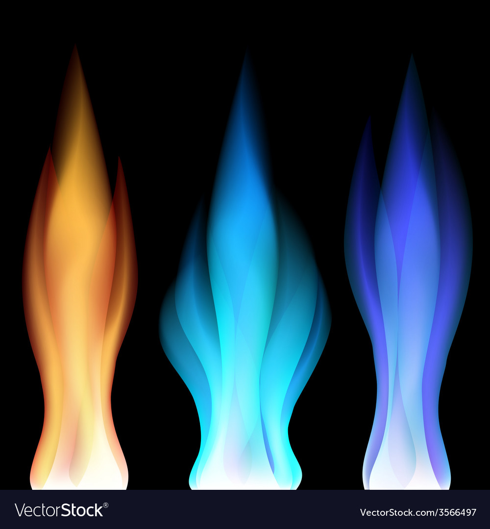 Fire flames over black vector | Price: 1 Credit (USD $1)