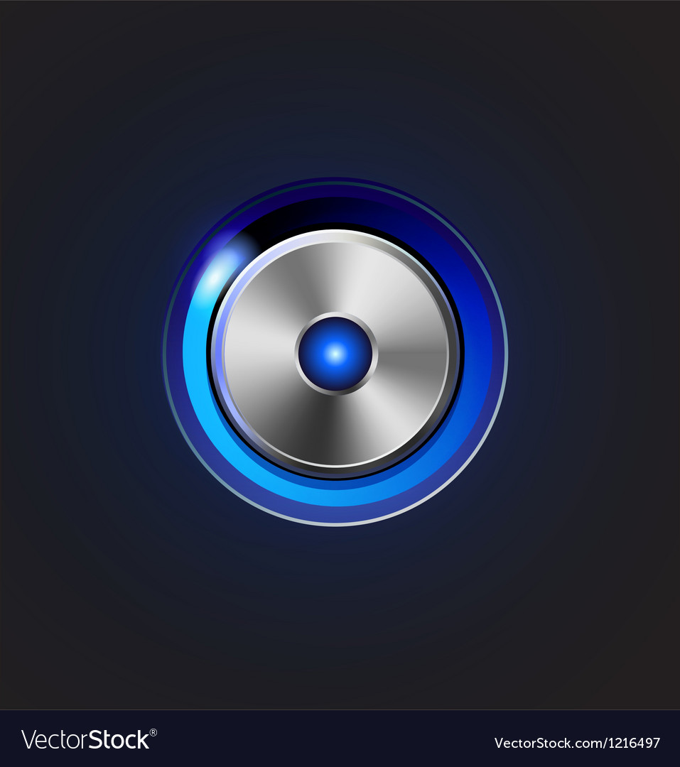 Glossy media player metal button vector | Price: 3 Credit (USD $3)