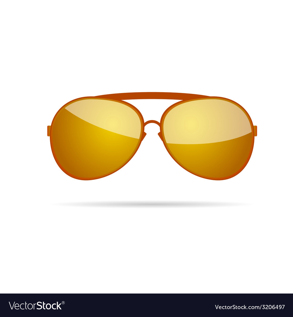 Gold sunglasses color vector | Price: 1 Credit (USD $1)