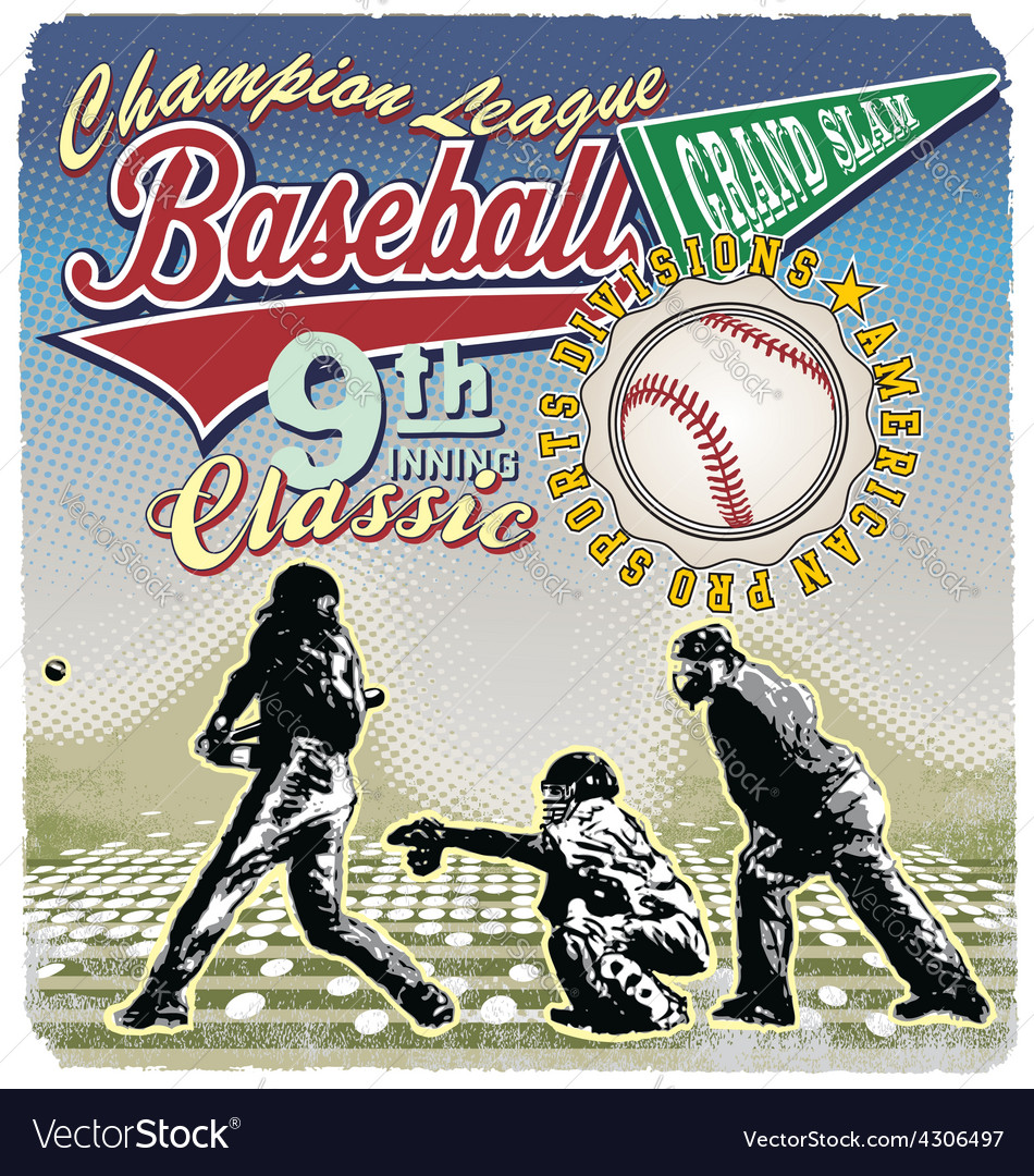 Grandslam 9th baseball champ vector | Price: 1 Credit (USD $1)