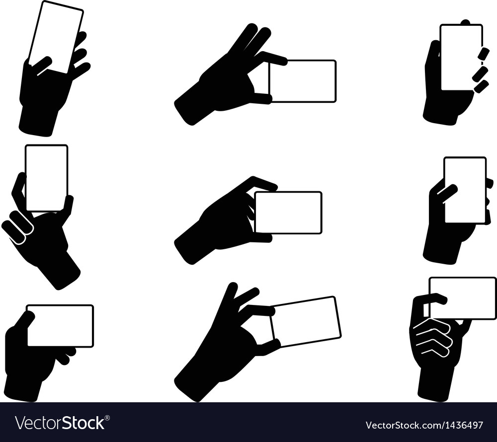 Hand holding business cards vector | Price: 1 Credit (USD $1)