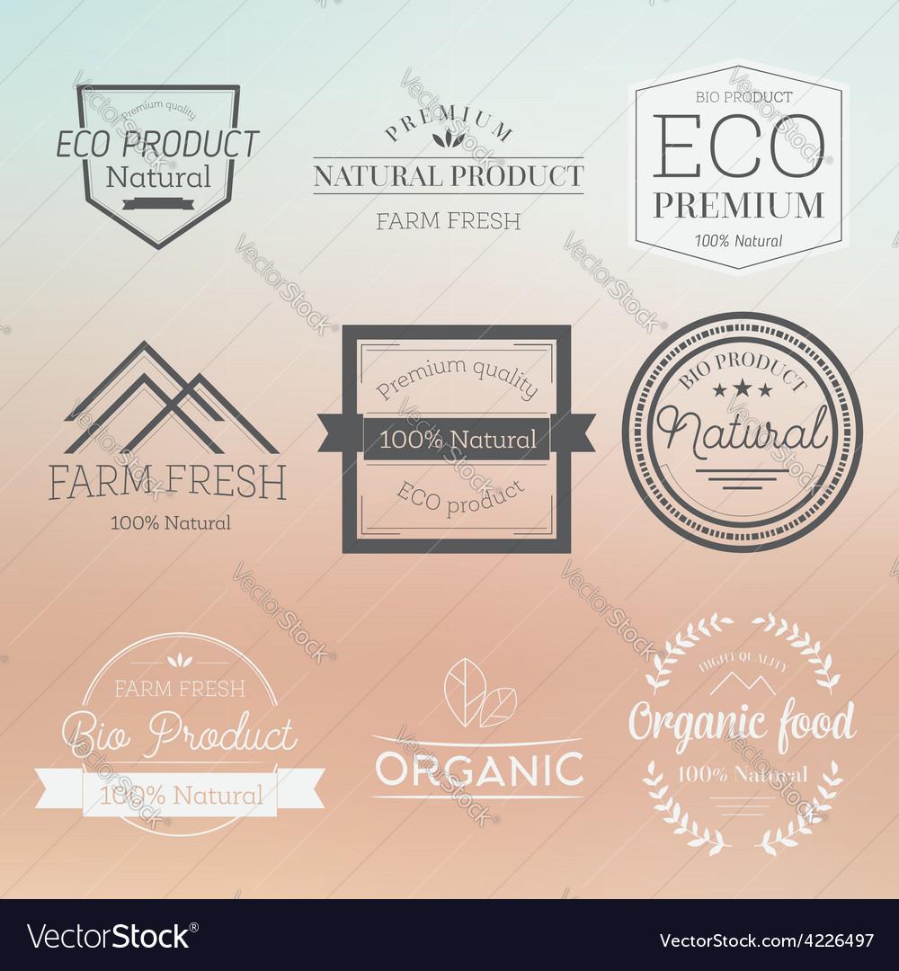 Organic label badge vector   Price: 1 Credit (USD $1)