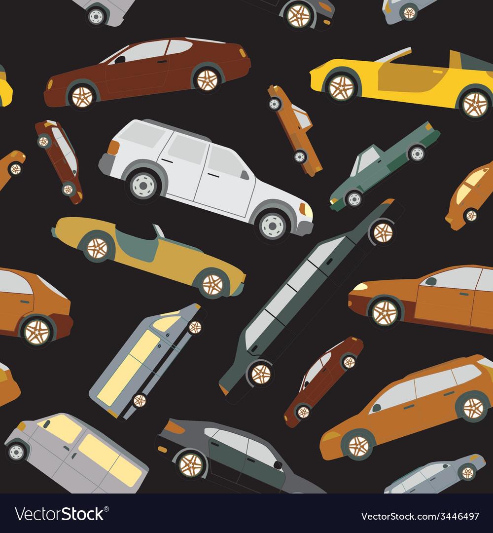 Passenger car background seamless vector | Price: 1 Credit (USD $1)