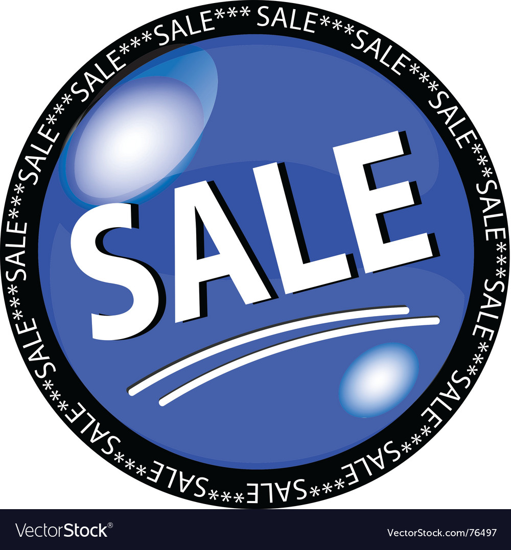 Sale button vector | Price: 1 Credit (USD $1)