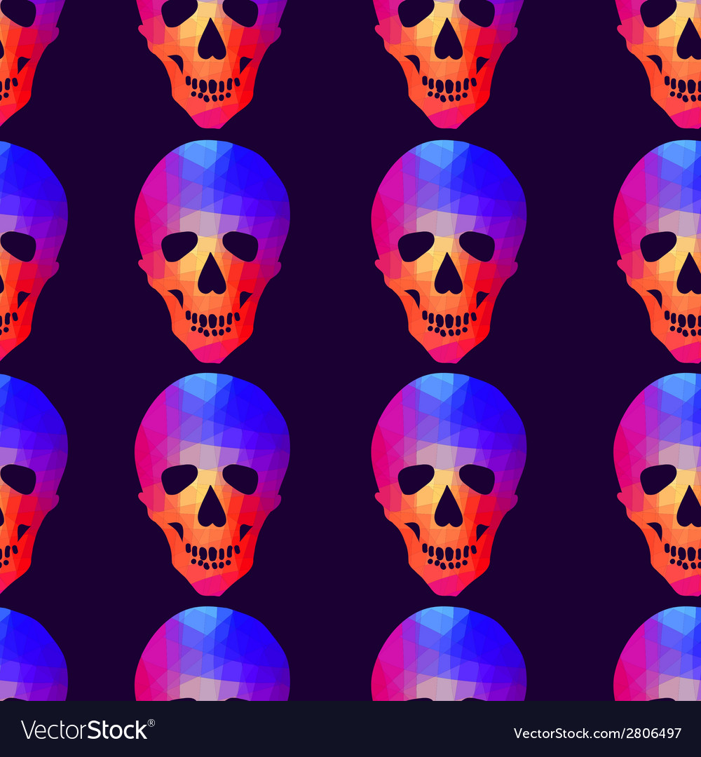 Seamless background with geometric skull vector | Price: 1 Credit (USD $1)