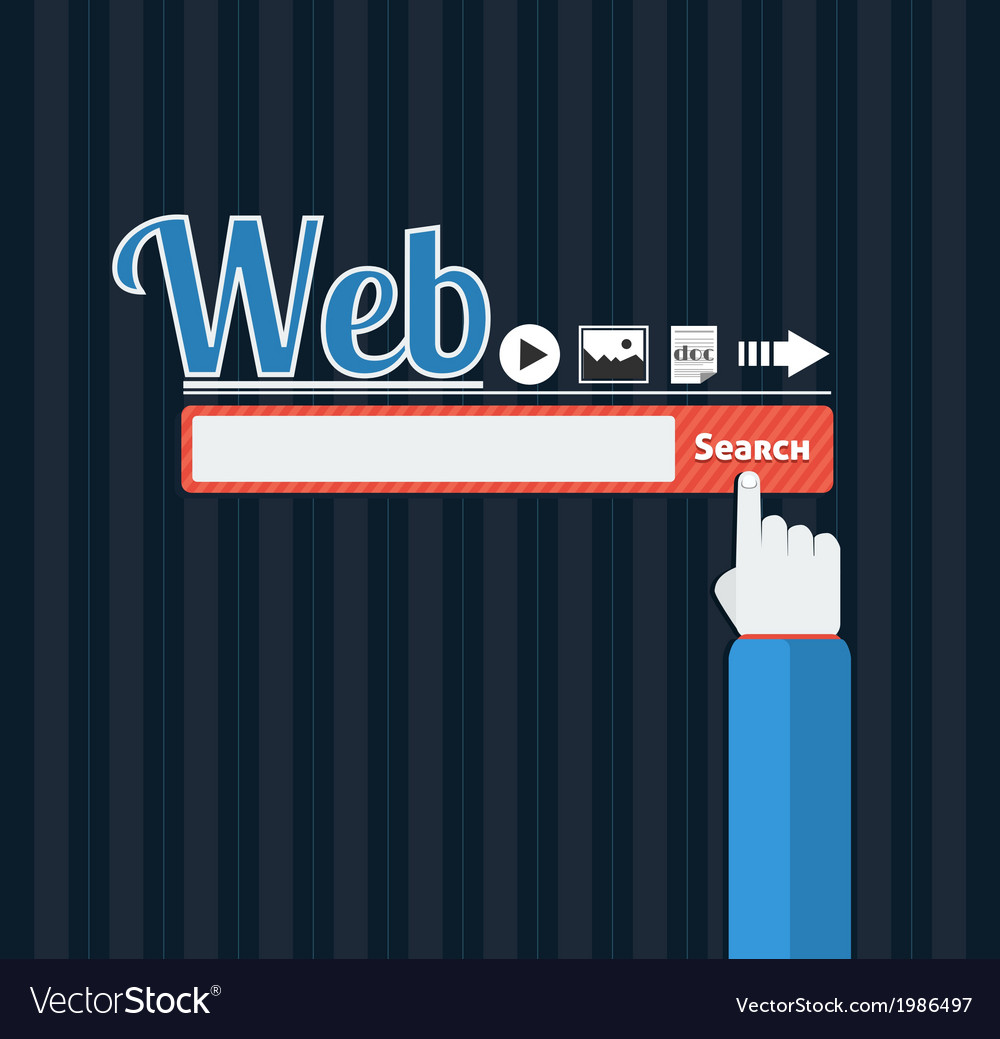 Search bar browser in flat vector