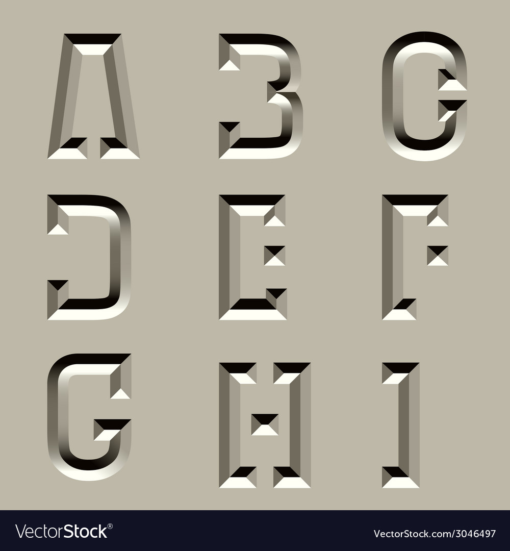 Stone carved alphabet font - part 1 vector | Price: 1 Credit (USD $1)