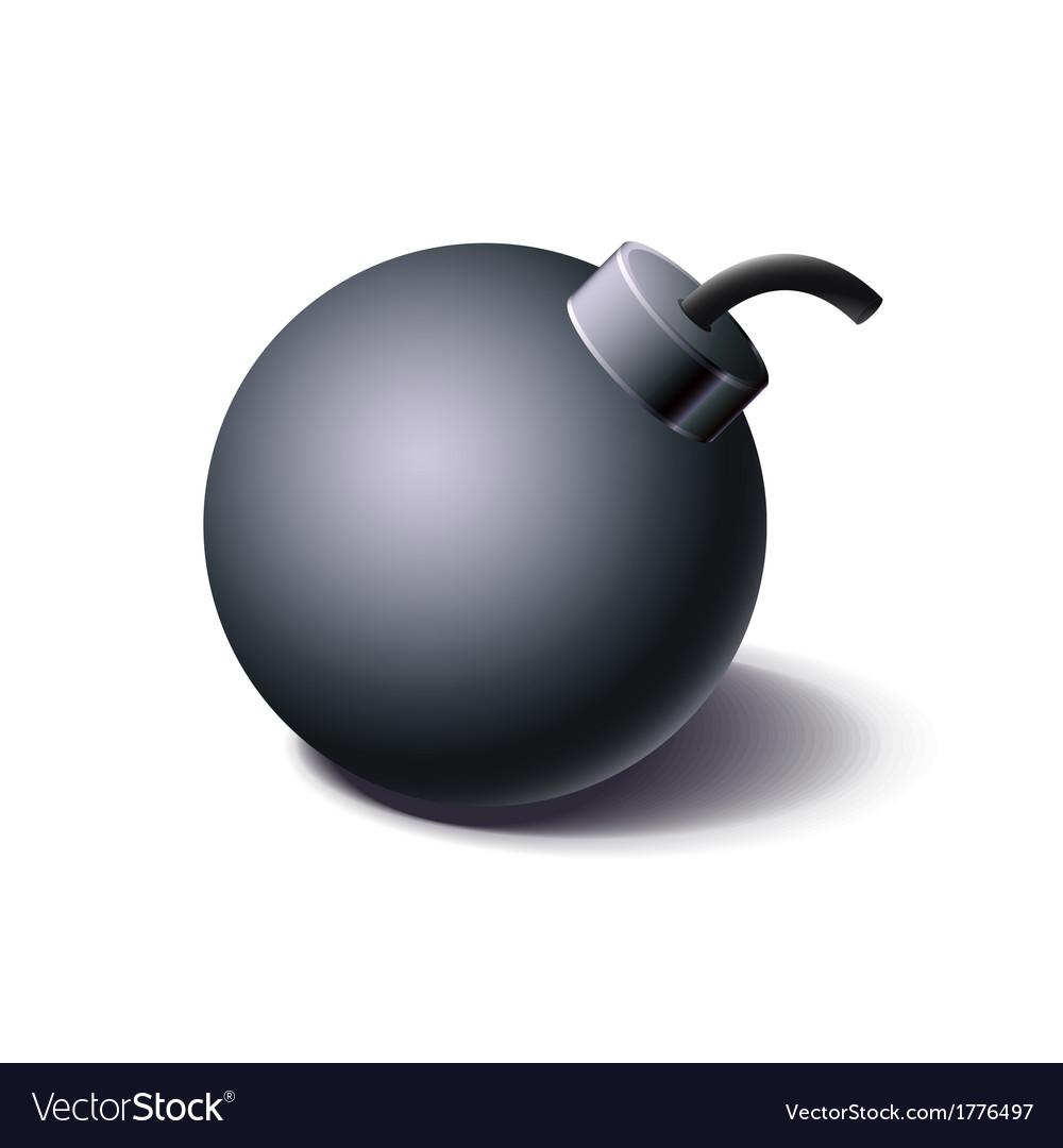 Vintage black bomb icon cartoon style vector | Price: 1 Credit (USD $1)