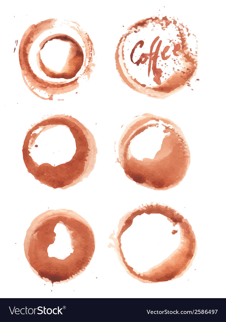 Watercolor coffee stain vector | Price: 1 Credit (USD $1)
