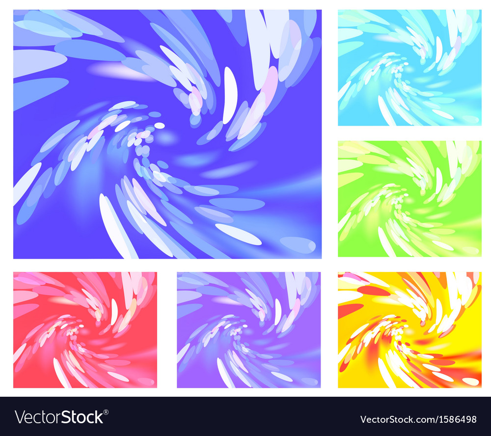 Abstract light vortex different colors vector | Price: 1 Credit (USD $1)