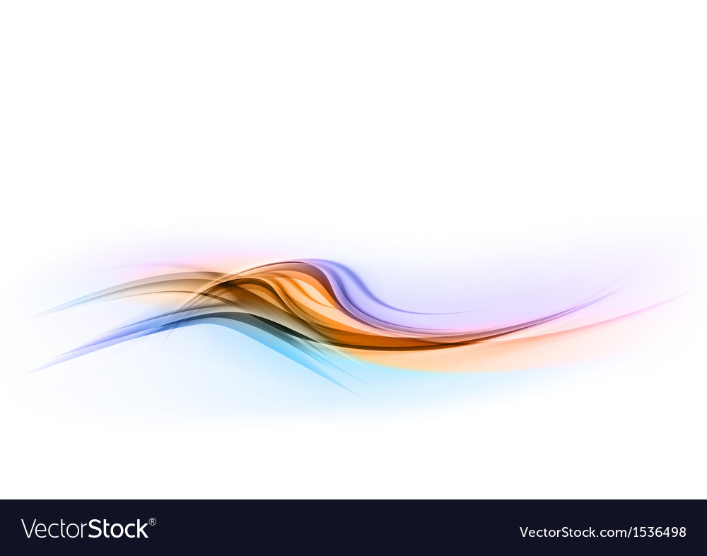 Abstract shape blue orange wave dis vector | Price: 1 Credit (USD $1)