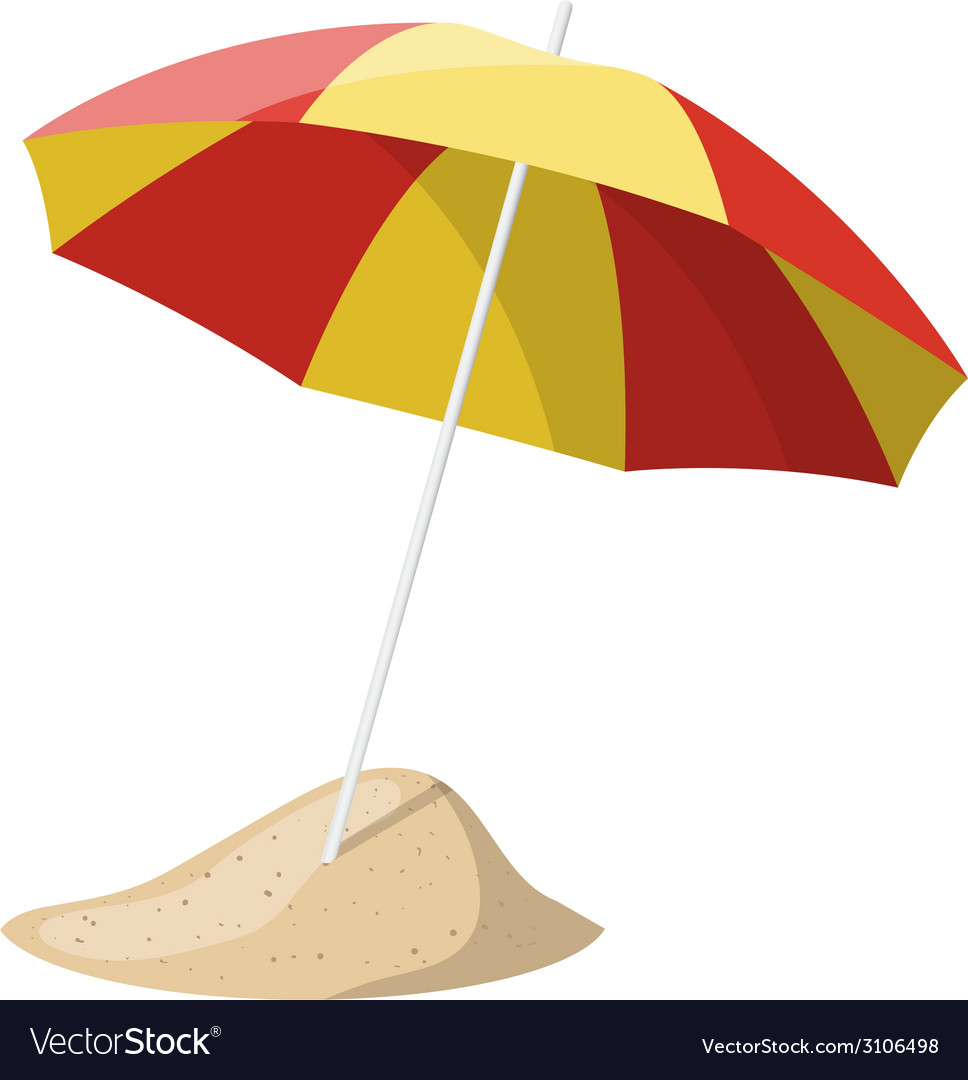 Beach umbrella isolated over white background vector | Price: 1 Credit (USD $1)