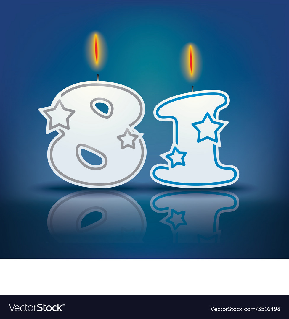 Birthday candle number 81 vector   Price: 1 Credit (USD $1)