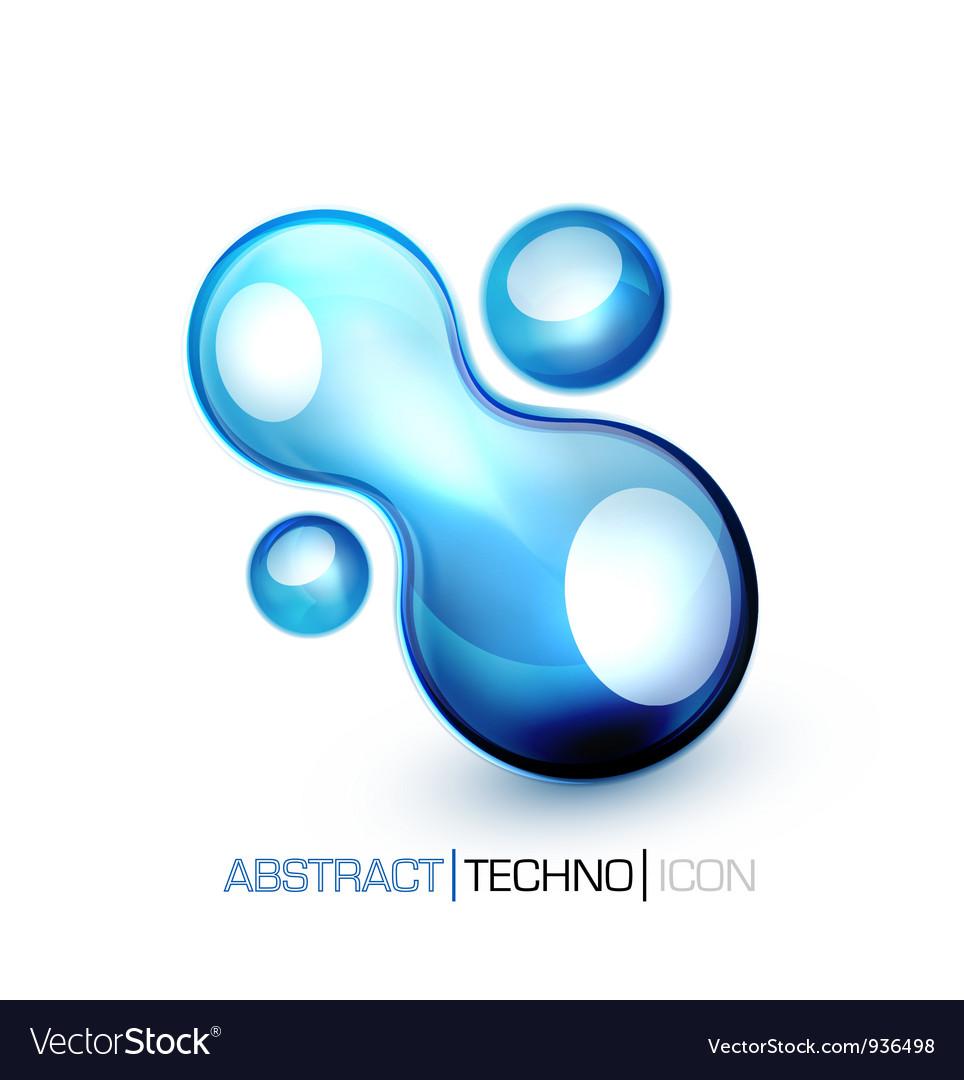 Blue fluid concept vector   Price: 1 Credit (USD $1)