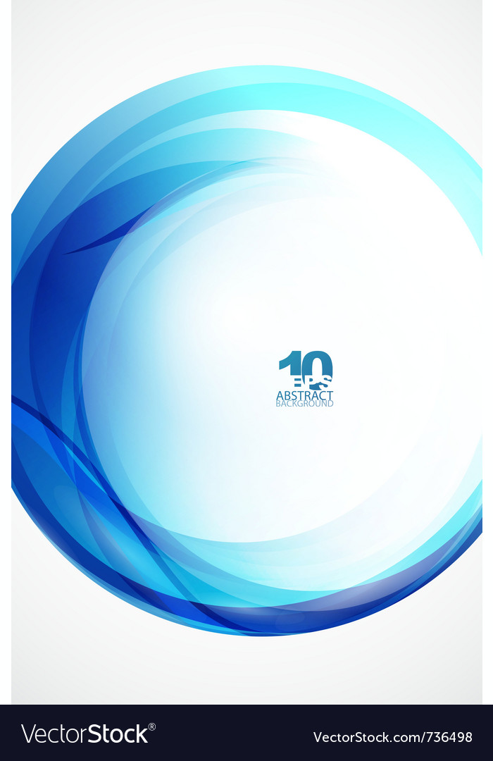 Blue wave sphere vector | Price: 1 Credit (USD $1)
