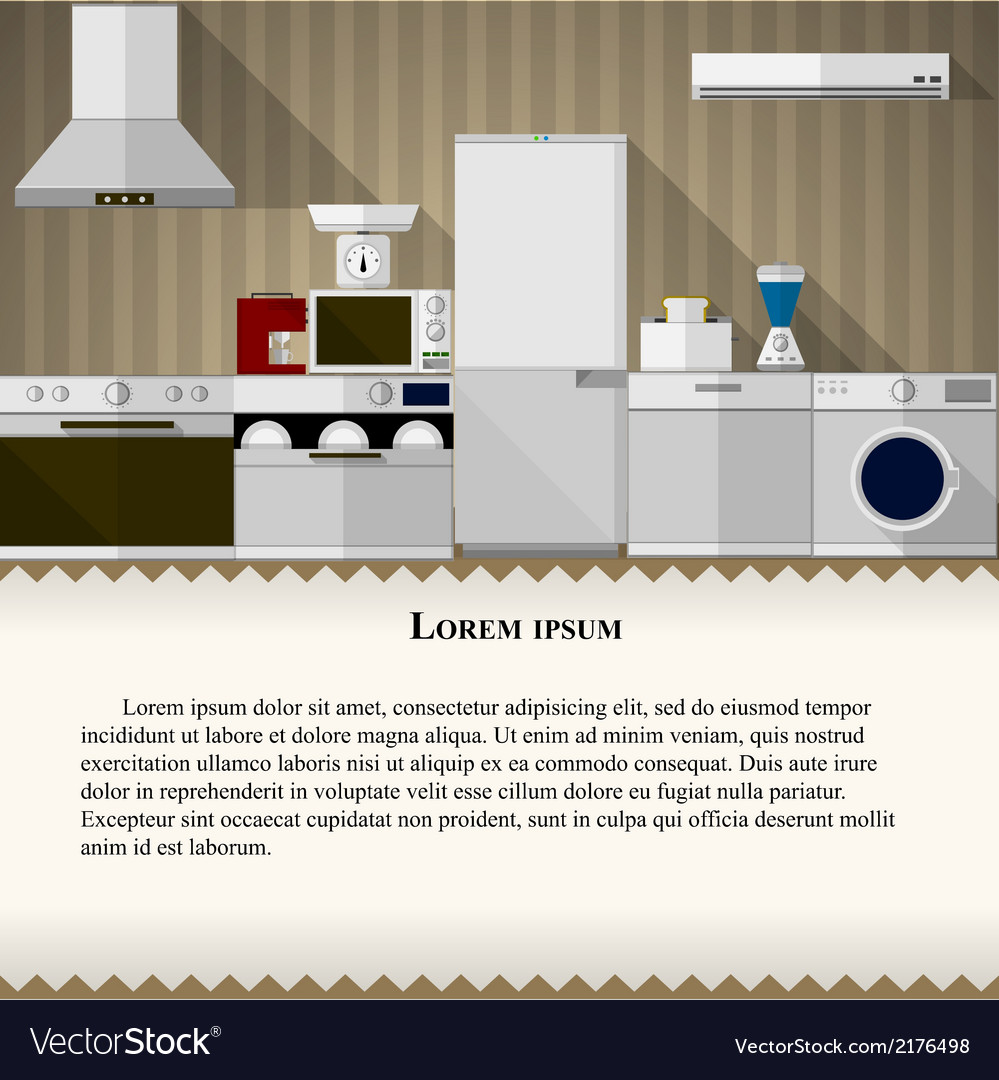 Flat of kitchen vector | Price: 1 Credit (USD $1)