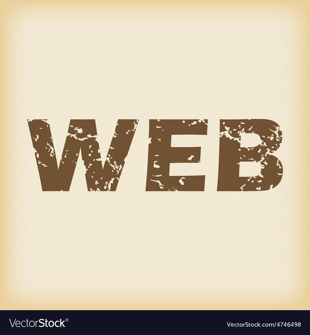 Grungy web icon vector | Price: 1 Credit (USD $1)