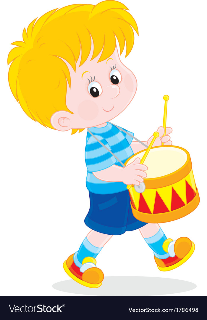 Little drummer vector | Price: 1 Credit (USD $1)