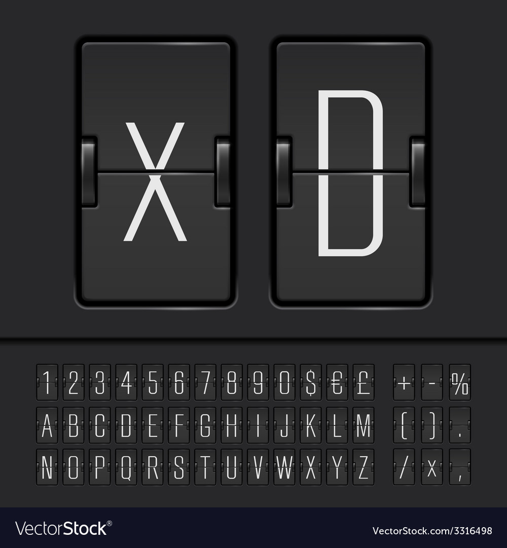 Scoreboard alphabet vector | Price: 1 Credit (USD $1)