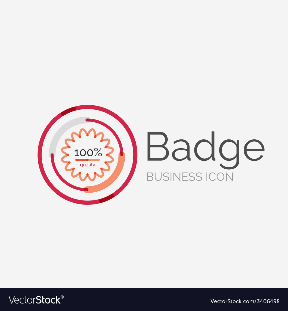 Thin line neat design logo premium quality stamp vector | Price: 1 Credit (USD $1)
