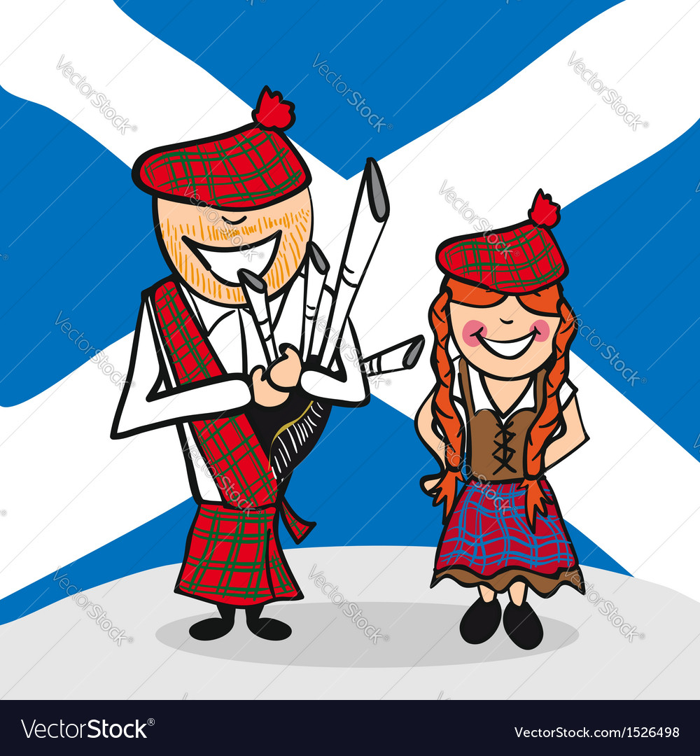 Welcome to scotland people vector | Price: 1 Credit (USD $1)