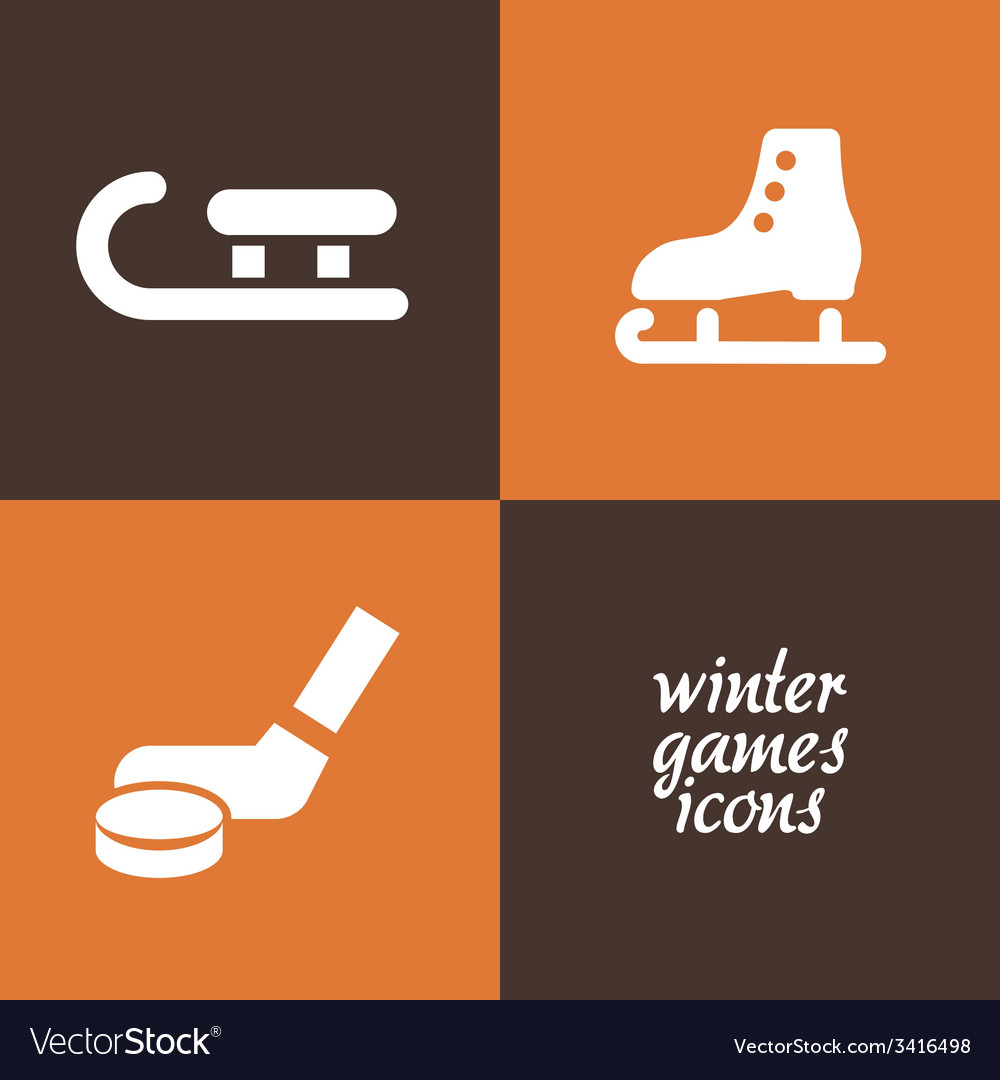 Winter game icons vector | Price: 1 Credit (USD $1)
