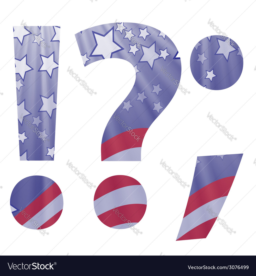 American question mark vector | Price: 1 Credit (USD $1)