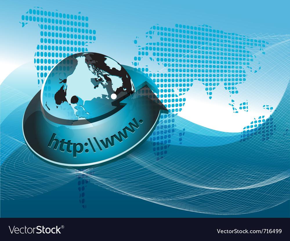 Arrow around globe vector | Price: 1 Credit (USD $1)