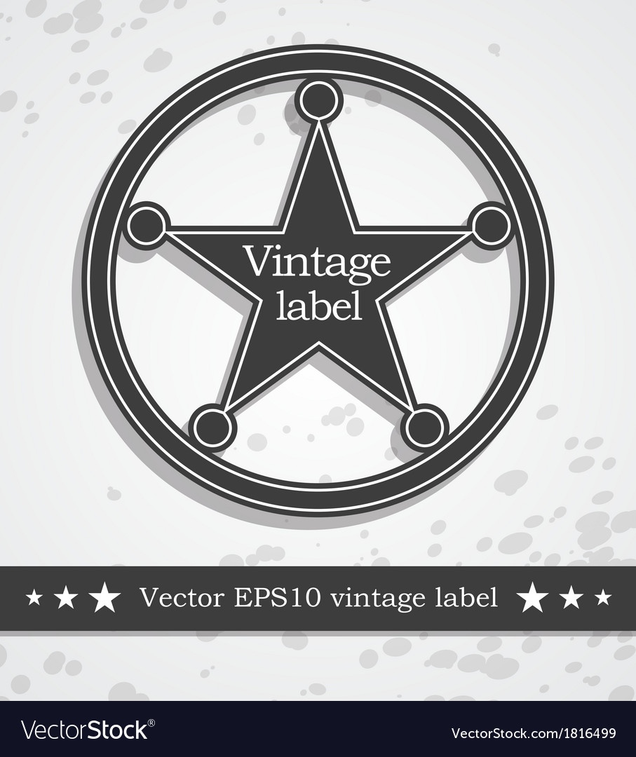 Black label with retro vintage style design vector | Price: 1 Credit (USD $1)