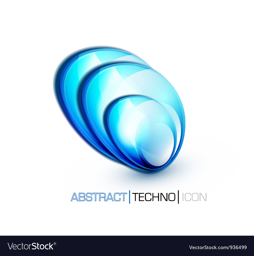 Blue fluid concept vector | Price: 1 Credit (USD $1)