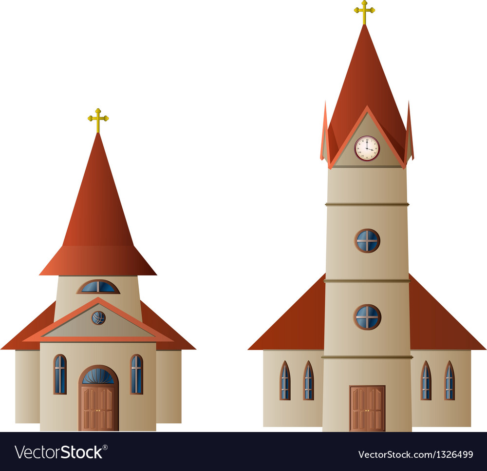 Church and chapel vector | Price: 1 Credit (USD $1)
