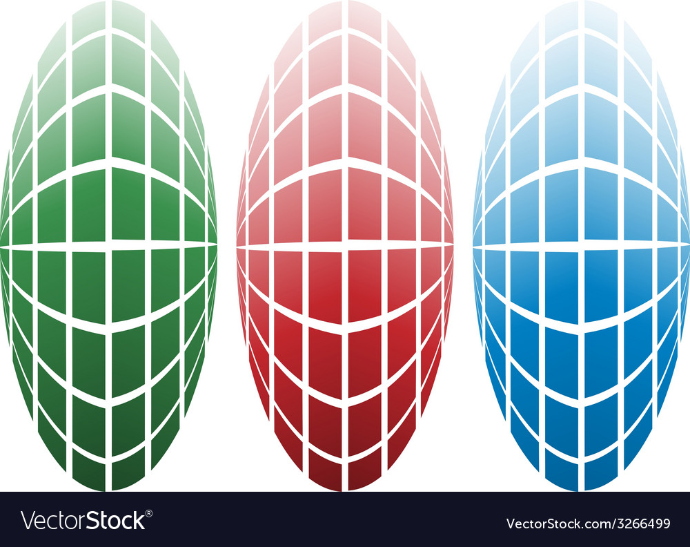 Colored globes vector | Price: 1 Credit (USD $1)