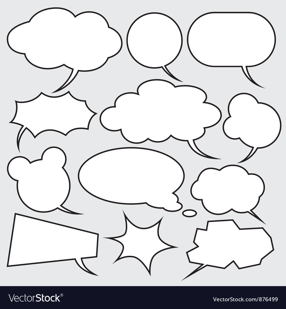 Comics style speech bubbles vector | Price: 1 Credit (USD $1)